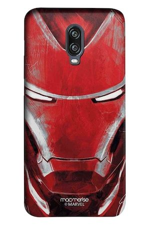 macmerise Red & Grey Charcoal Art Iron man Sublime OnePlus 6T Mobile Case