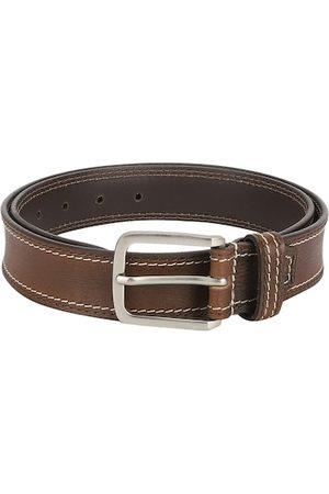 Aditi Wasan Men Brown Solid Genuine Leather Belt