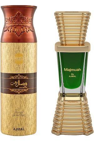 Ajmal Set of Unisex Majmua Concentrated Perfume & Men Wisal Dahab Perfume (10 ml+200 ml)