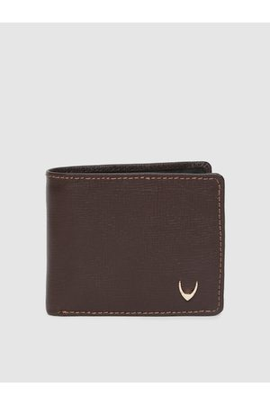 Hidesign Men Brown Solid Two Fold Manhattan Leather Wallet