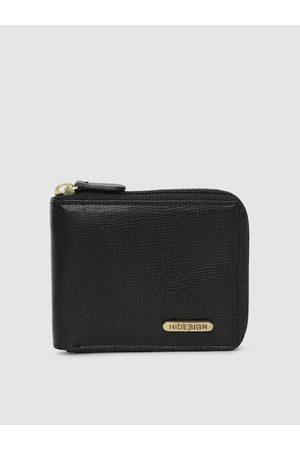 Hidesign Men Black Solid Manhattan Leather Two Fold Wallet