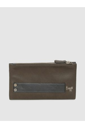 Baggit Men Olive Green Solid Two Fold Wallet