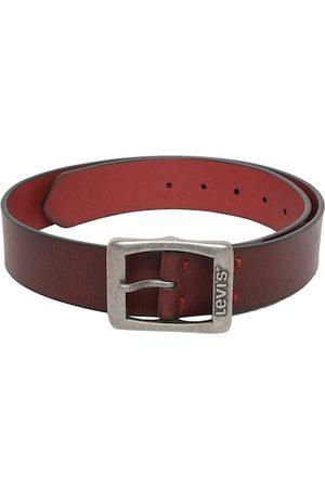 Levi's Men Belts - Men Red Solid Leather Belt