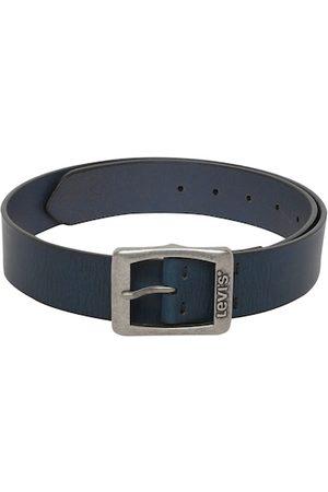 Levis Men Navy Blue Solid Leather Belt