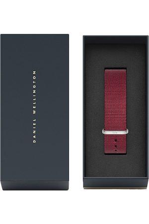 Daniel Wellington Men Maroon Textured Synthetic Classic Roselyn Watch Strap