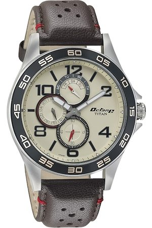 Titan Men Cream-Coloured Dial Watch 1702KL02