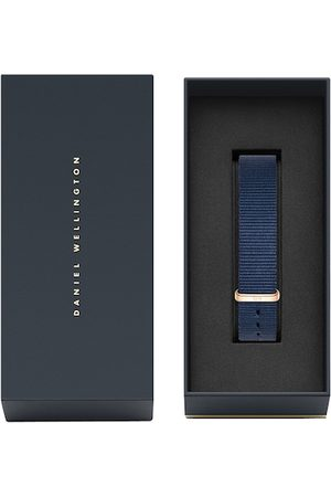 Daniel Wellington Unisex Blue Textured Synthetic Classic Bayswater Watch Strap