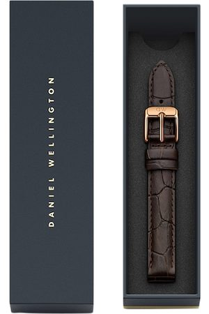 Daniel Wellington Unisex Brown Textured Leather Petite Reading Watch Strap