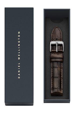 Daniel Wellington Unisex Brown Textured Leather Classic York Watch Strap