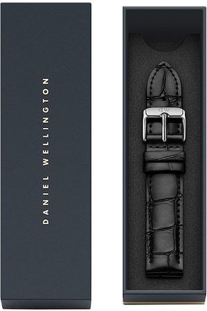 Daniel Wellington Unisex Black Textured Leather Petite Reading Watch Strap