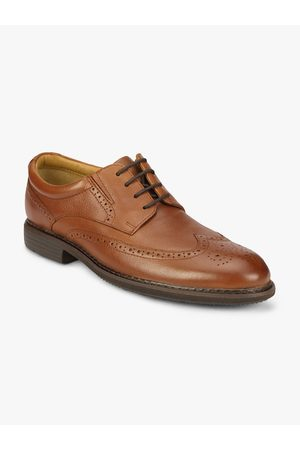 Florsheim Men Brown Solid Leather Brogues