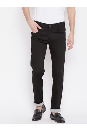 Nation Polo Club Men Black Skinny Fit Solid Regular Trousers