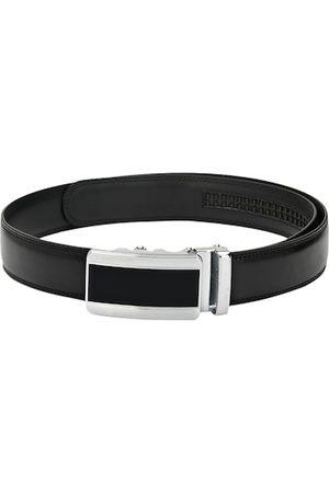 Pacific Men Black Solid Genuine Leather Belt