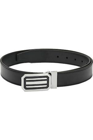 Pacific Men Belts - Men Black Reversible Solid Belt