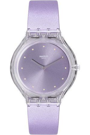 Swatch Unisex Lavender Analogue Swiss Made Watch SVOK110