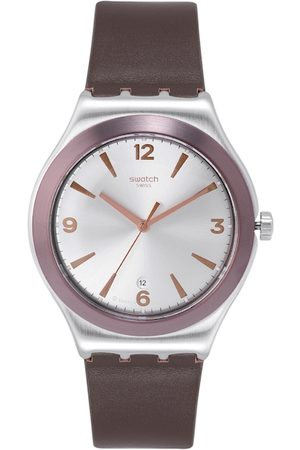 Swatch Unisex Silver-Toned Analogue Swiss Made Watch YWS450