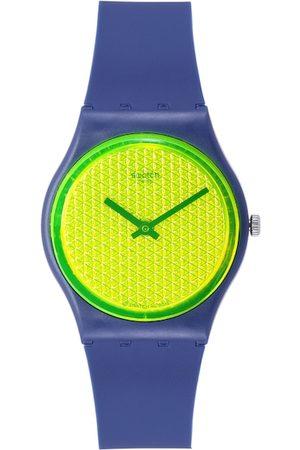 Swatch Unisex Fluorescent Green Swiss Made Analogue Watch GN266