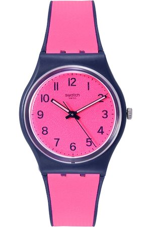 Swatch Unisex Neon Pink Swiss Made Analogue Watch GN264