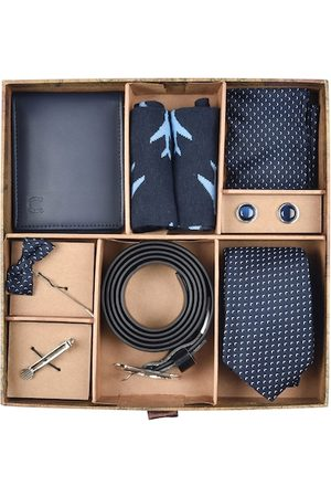 adidas Men Navy Blue & Silver-Toned Accessory Gift Set