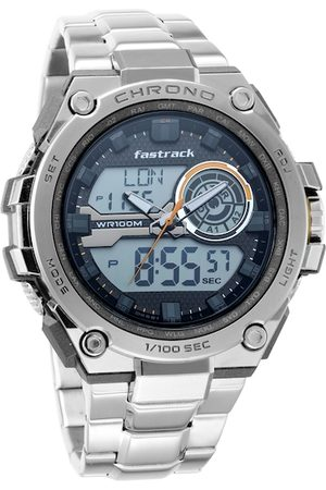 Fastrack Men Grey Analogue and Digital Watch 38055PM02