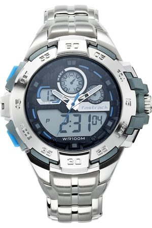 Fastrack Men Black Analogue and Digital Watch 38054PM03