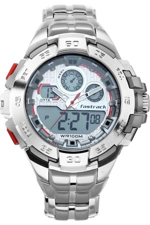 Fastrack Men White Analogue and Digital Watch 38054PM01