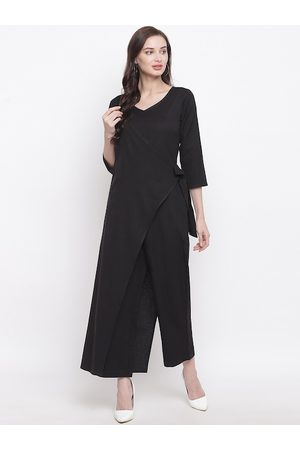 FABNEST Women Black Solid Basic Jumpsuit
