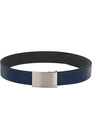 Calvadoss Men Navy Blue Solid Belt