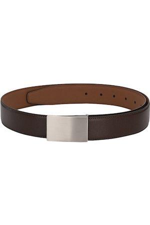 Calvadoss Men Brown Textured Belt