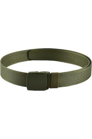 WINSOME DEAL Men Olive Green Woven Design Belt