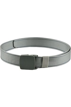 WINSOME DEAL Men Silver-Toned Braided Solid Belt