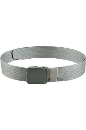 WINSOME DEAL Men Silver-Toned Braided Belt