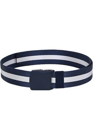 Calvadoss Men Blue & White Striped Belt