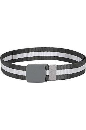 Calvadoss Men Grey & White Striped Belt