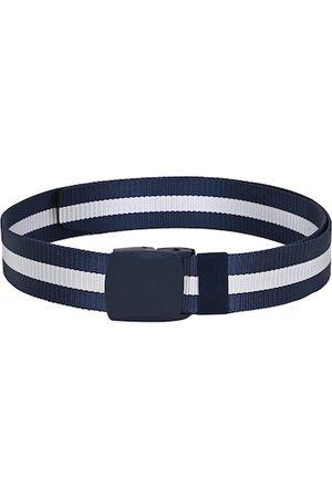 Calvadoss Men Belts - Men Navy Blue & White Striped Belt