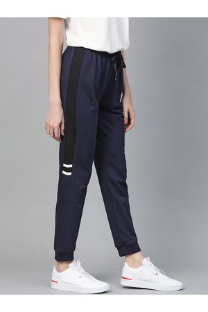 Mast & Harbour Women Navy Blue Solid Joggers