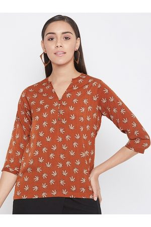 Crimsoune Club Women Orange Printed Top