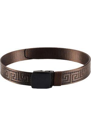 WINSOME DEAL Men Brown Canvas Braided Belt