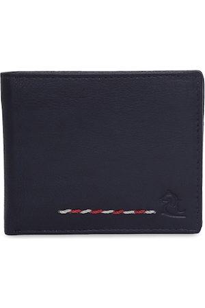 KARA Men Wallets - Men Blue Solid Two Fold Leather Wallet