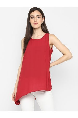 Aditi Wasan Women Red Solid High-Low Top