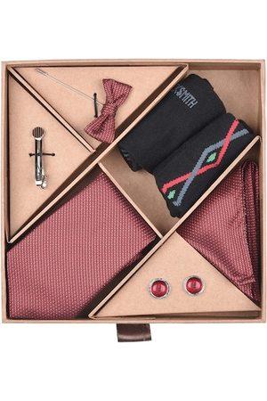 Blacksmith Men Maroon & Black Accessory Gift Set