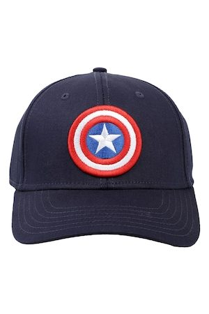 Free Authority Men Blue Captain America Embroidered Snapback Cap