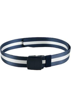 WINSOME DEAL Men Blue & White Striped Belt