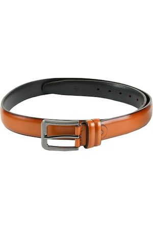 WINSOME DEAL Men Tan Brown Solid Belt