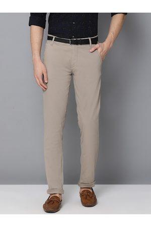 Lindbergh Men Brown Slim Fit Solid Chinos