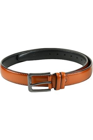 WINSOME DEAL Men Tan Brown Solid Belt