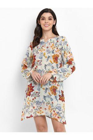 Aditi Wasan Women Beige & Grey Printed Tunic