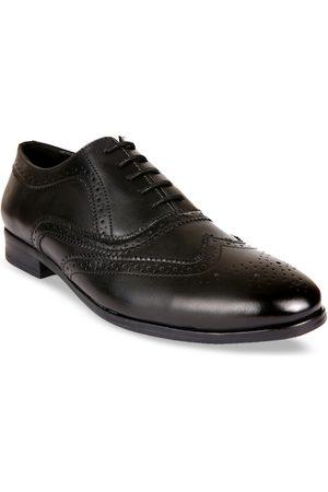San Frissco Men Black Solid Formal Brogues