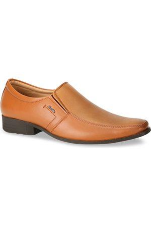 Bata Men Men Brown Solid Formal Slip-Ons