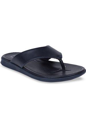Bata Men Navy Blue Solid Thong Flip-Flops
